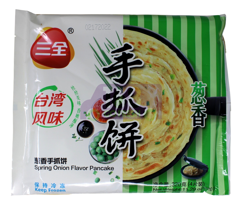 SPRING Green Onion Pancake 三全 葱香手抓饼(11.29OZ)