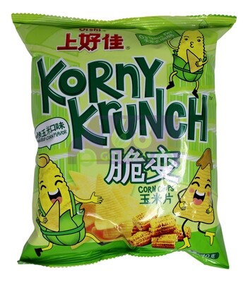 OISHI KORNY KRUNCH CORN CHIPS-ROASTED CORN FLV. 上好佳 脆变 玉米片(烤玉米口味)