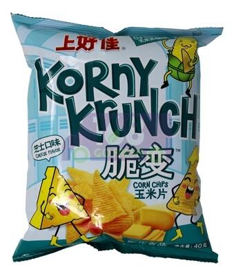 OISHI KORNY KRUNCH CORN CHIPS-CHEESE FLV. 上好佳 脆变 玉米片(芝士味)