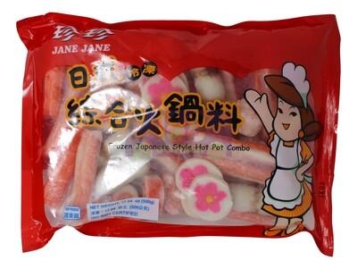JANE JANE - FROZEN JAPANESE  HOT POT COMPO珍珍 日式冷冻综合火锅料/火锅丸子(17OZ)
