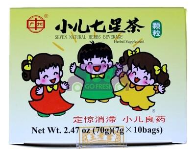 WangLaoJi Seven Natural Herbs Beverage 7g x 10 bags 王老吉 小儿七星茶冲剂 7克x10袋