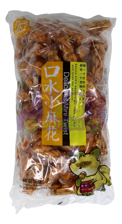LEZZI DELICIOUS MINI TWIST 爱乐滋 口水小麻花 蜂蜜味(500G)