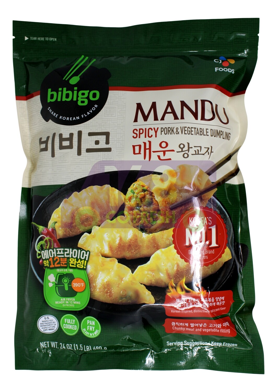 MANDU SPICY PORK&VEGETABLE DUMPLING 韩国 CJ 辣猪肉蔬菜饺子(1.5LB)