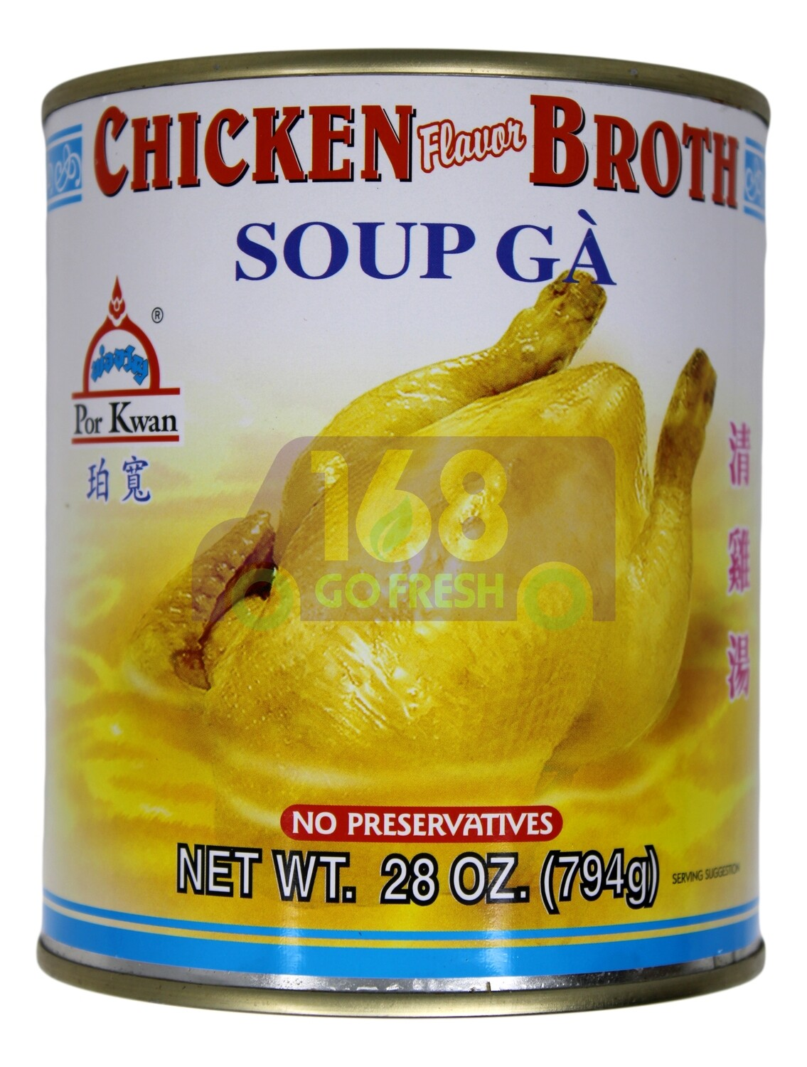 PORKWAN CHICKEN  BROTH  SOUP 珀宽 清鸡汤(28OZ)