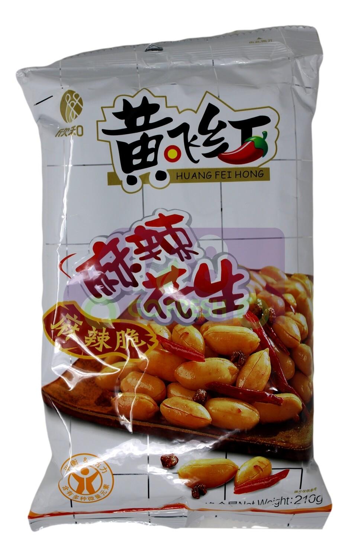 HUANGFEIHONG PEANUT SPICY  黄飞红 麻辣花生(210G)