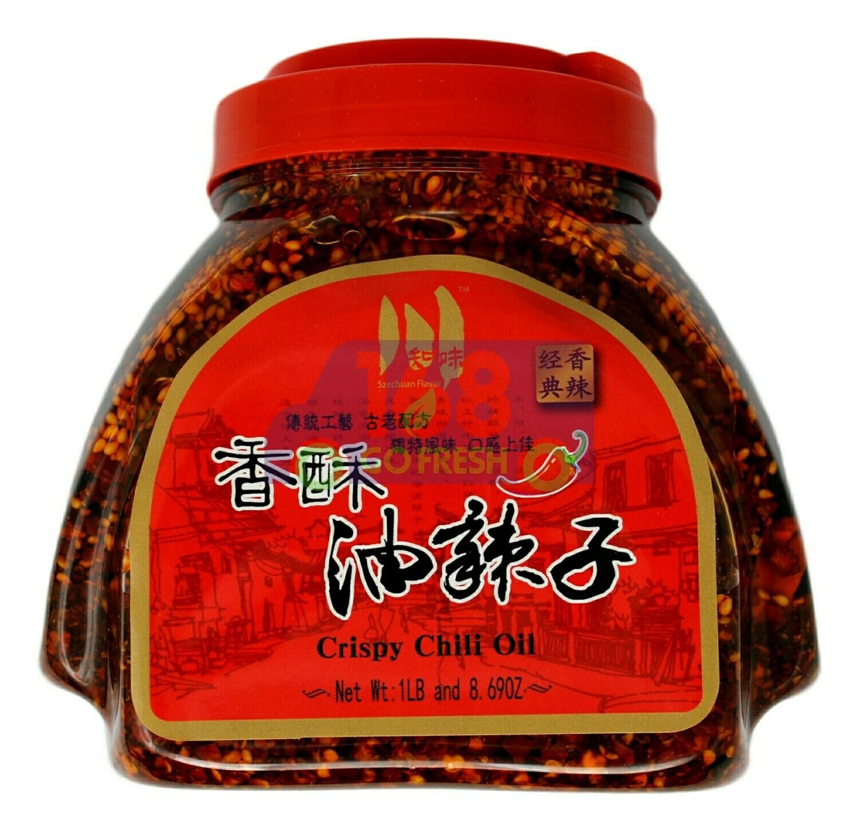 CRISPY CHILI OIL 川知味 香酥油辣子(1LB 8.69OZ)