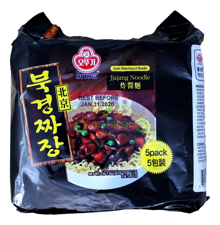 OTTOGI  JJAJANG NOODLE ASIAN STYLE INSTANT NOODLE 韩国不倒翁 北京炸酱面 (5包装)