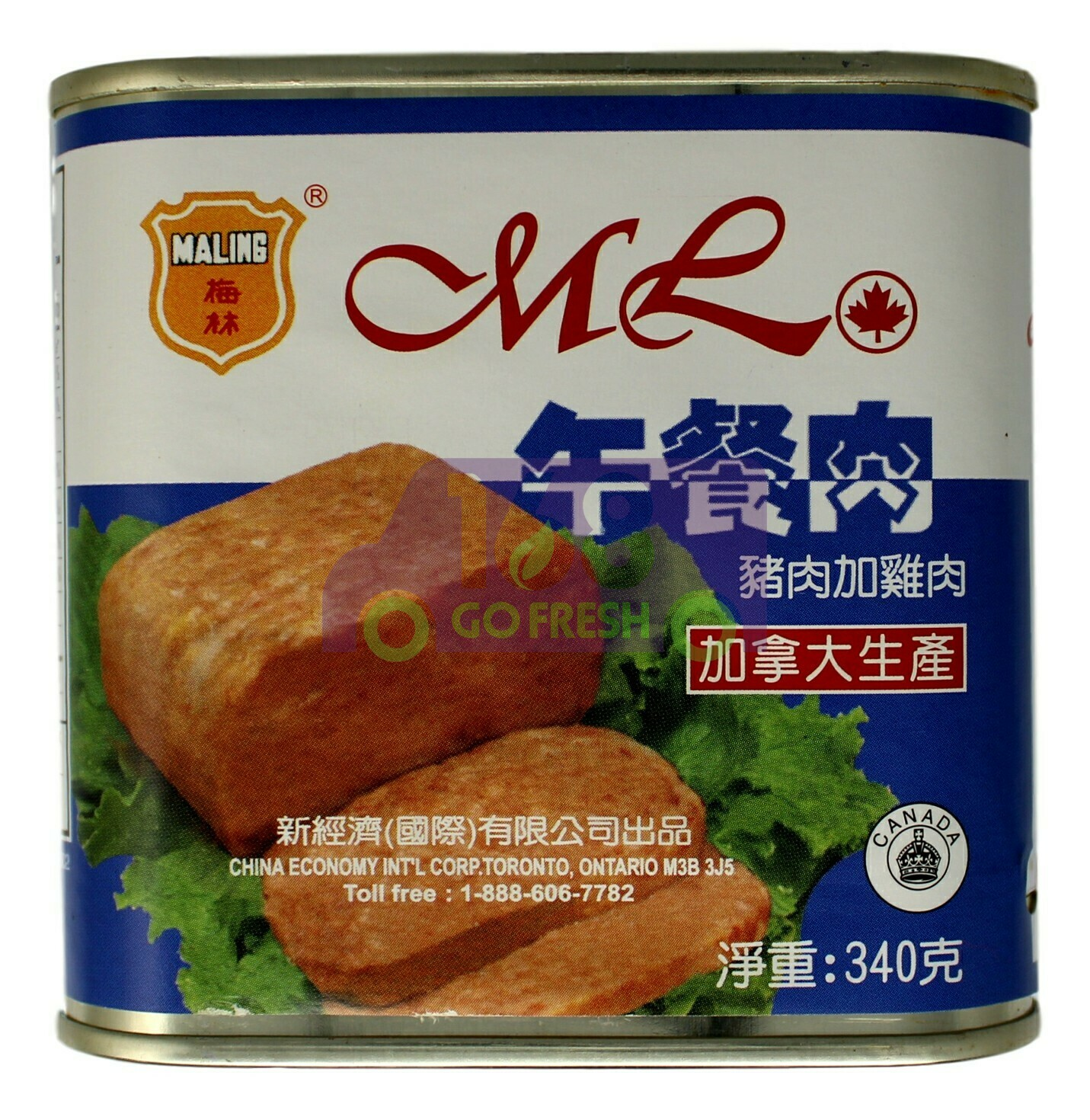MALING LUNCHEON MEAT 梅林 优质午餐肉(猪肉加鸡肉)(340G)