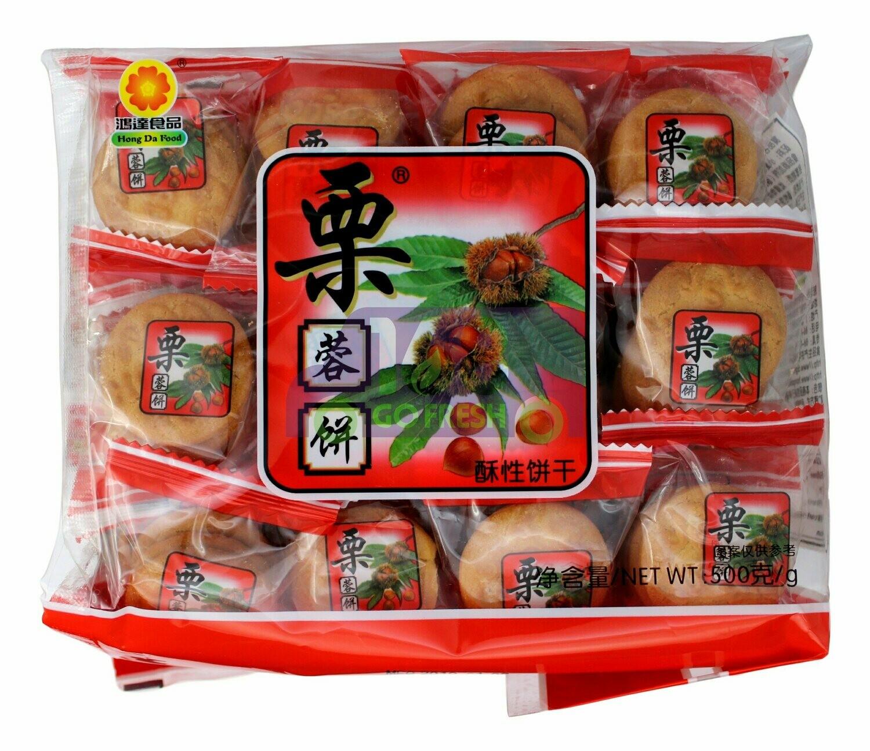 HONGDA - CHESTNUT COOKIES 鸿达 栗蓉饼(500G)