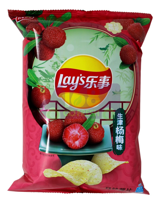 LAY'S MYRICA RUBRA  FLAVOR CHIPS 乐事 马铃薯片 生津杨梅味(60G)