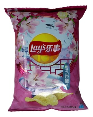 LAY'S CHERRY BLOSSOM RICE WINE  FLAVOR CHIPS 乐事 马铃薯片 樱花米酿味(60G)