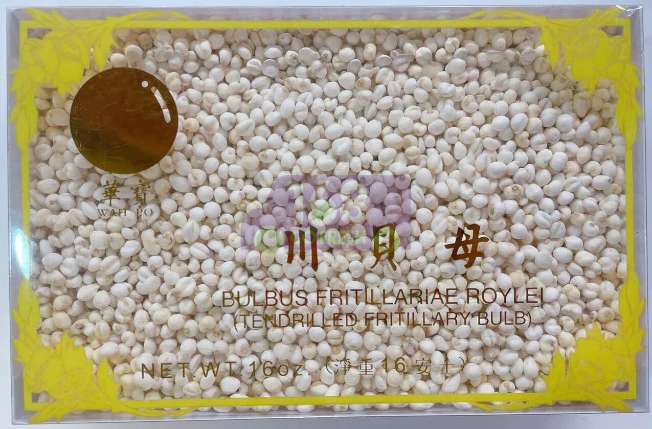 WAHPO Fritillaria Cirrhosa / Chuan Bei 16oz 华宝牌优质川贝母/珍珠平贝 16oz