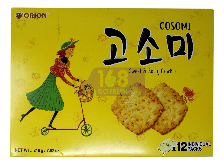 KOREAN GOSOMI  ORION COOKIES 韩国 高笑美饼干(216G)