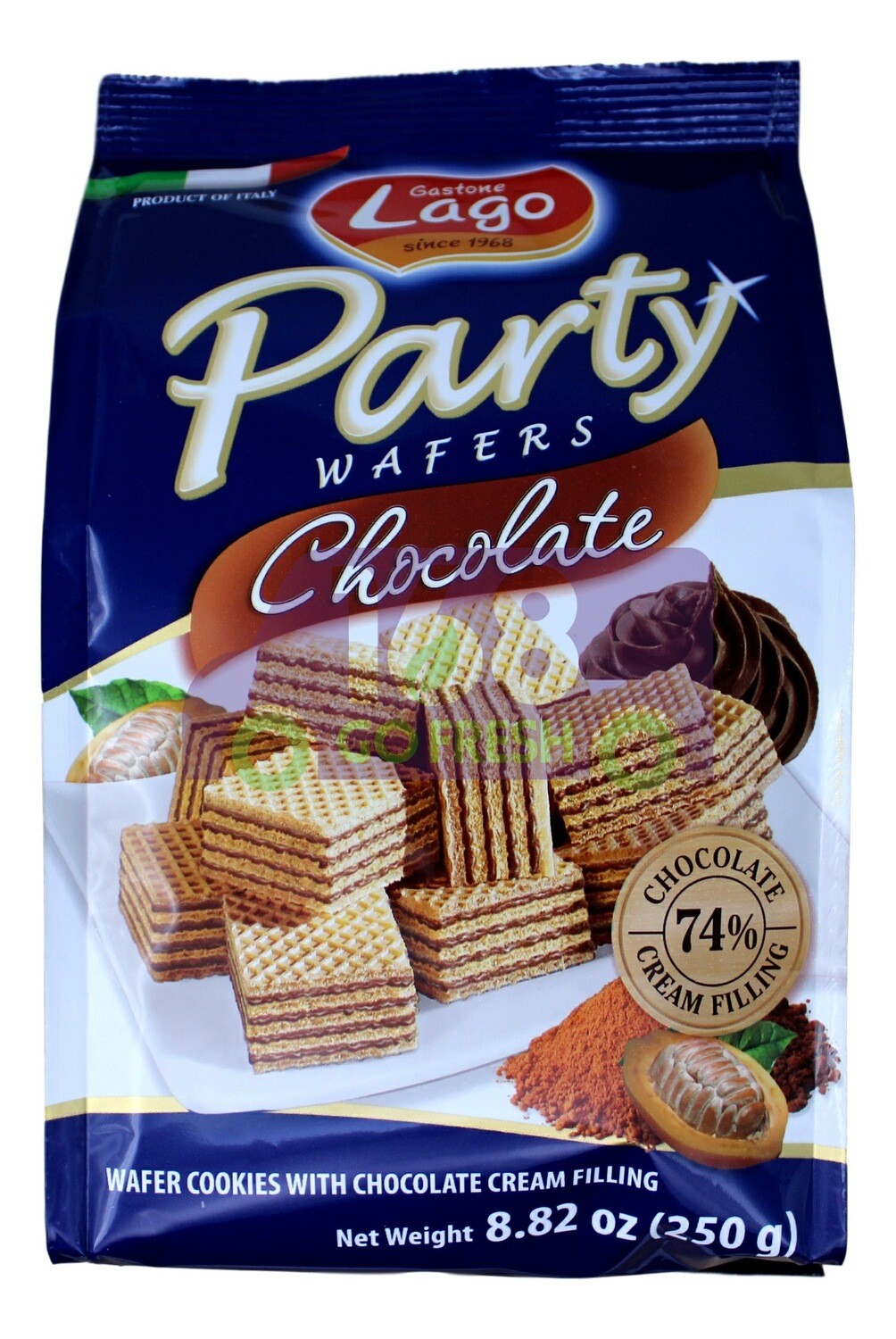 PARTY WAFERS - CHOCOLA Lago Party 巧克力味迷你威化饼(250G)