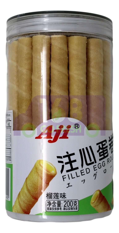 AJI FILLED EGG ROLLS Aji 注心蛋卷 榴莲味 (200G)