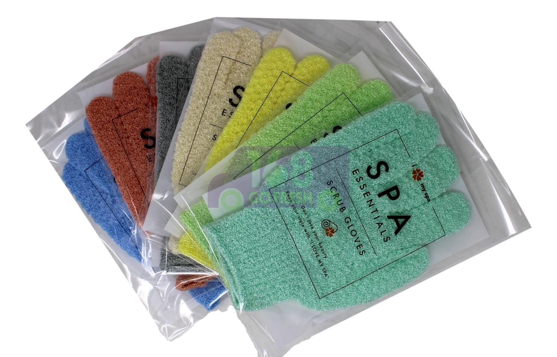 SPA ESSENTIAL Scrub Gloves 1pair [SENT RANDOMLY] 搓澡手套1对【颜色随机配送】