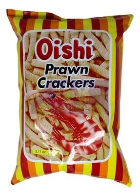 OISHI PRAWN CRACKERS 上好佳 鲜虾条(90G)