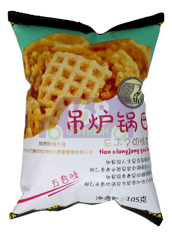 COARSE GRAIN RICE CHIPS FIVE SPICE 天香坊 吊炉锅巴 五香味(105G)