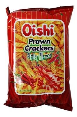 OISHI PRAWN CRACKERS SPICY FLAVOR 上好佳 鲜虾条 辣味(90G)