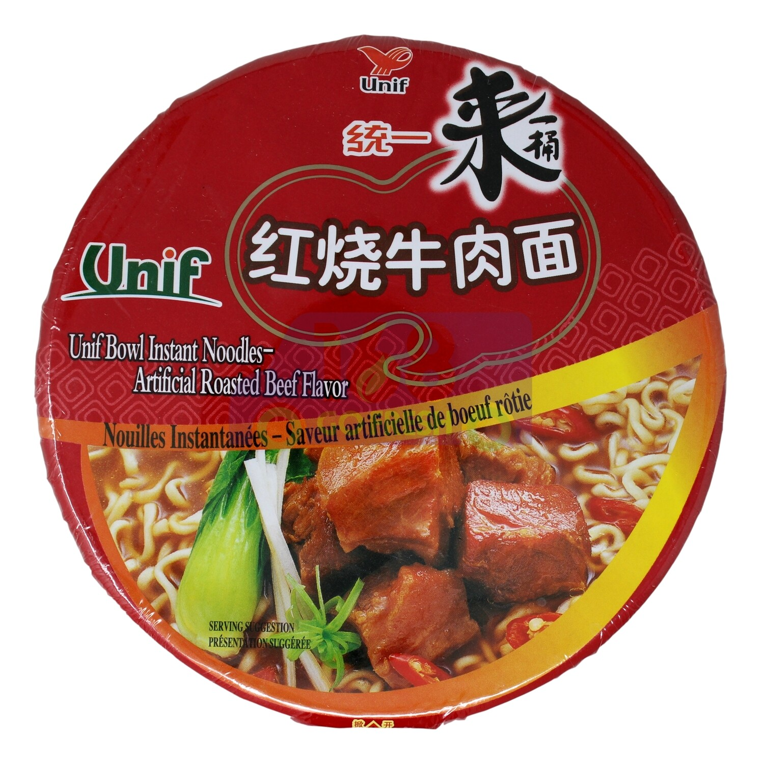 Unif Bowl Instant Noodles Roasted Beef Flv统一 红烧牛肉面(碗装)