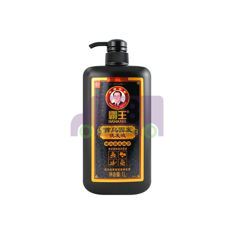 BAWANG Hair Blackening & Strengthening Shampoo with Chinese Herbal Extracts 1000ml霸王 首乌固发洗发液( 适合暗黄枯燥易掉发发质)-大瓶超值装 1000ml