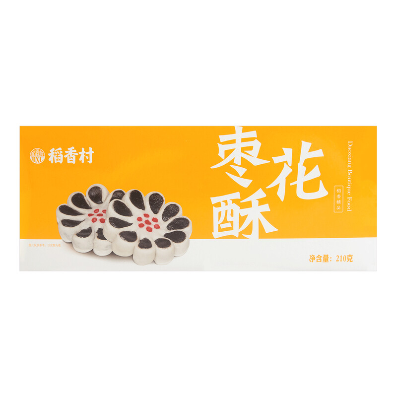 BEIJING WHEAT FLOUR CAKE   稻香村 枣花酥(210G)