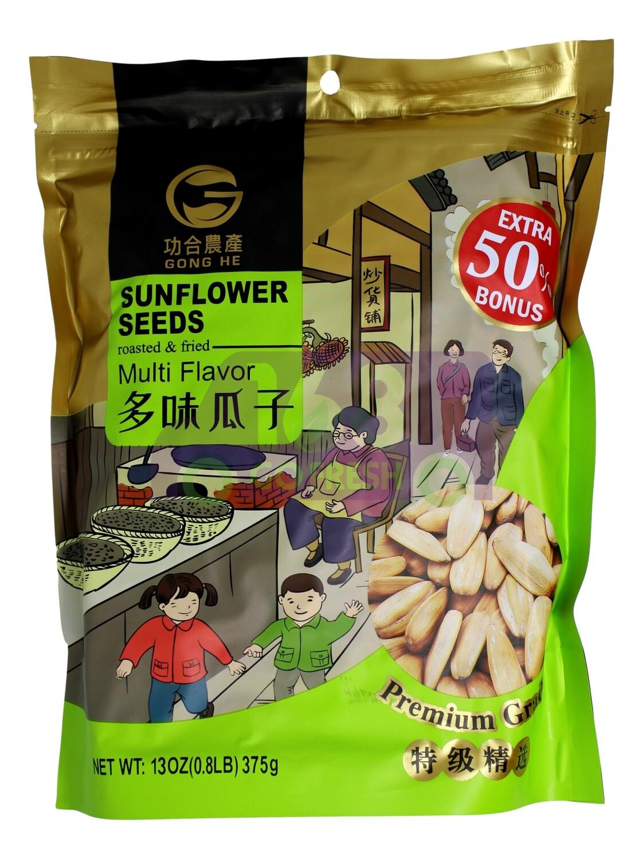 GONGHE SUNFLOWER SEEDS  功和农产 多味瓜子(葵花籽)(375G)
