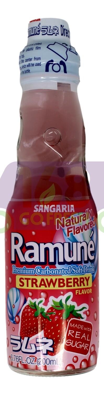 SANGARIA RAMUNE DRINK - STRAWBERRY 日本 SANGARIA 草莓味弹珠汽水(200 ML*6 瓶)