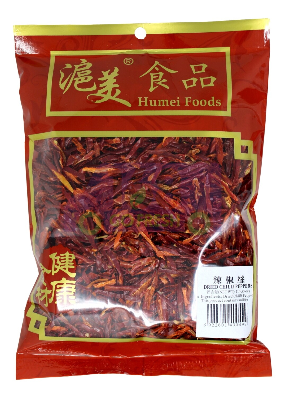 DRIED DHREDDED CHILI 滬美食品 辣椒丝(114G)
