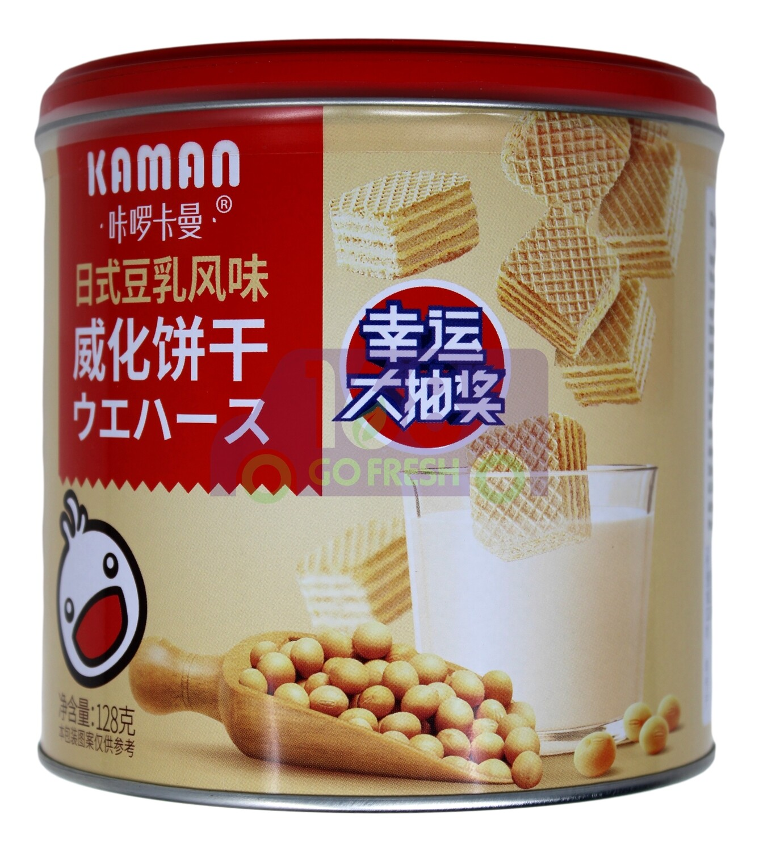 KAMAN WAFER-SOY BEAN FLV 日式豆乳風味威化餅 铁罐装 (128G)