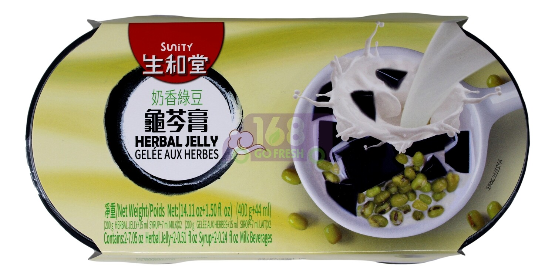MUNG BEAN & MILK HERBAL JELLY 生和堂 奶香绿豆龟苓膏(2杯装)