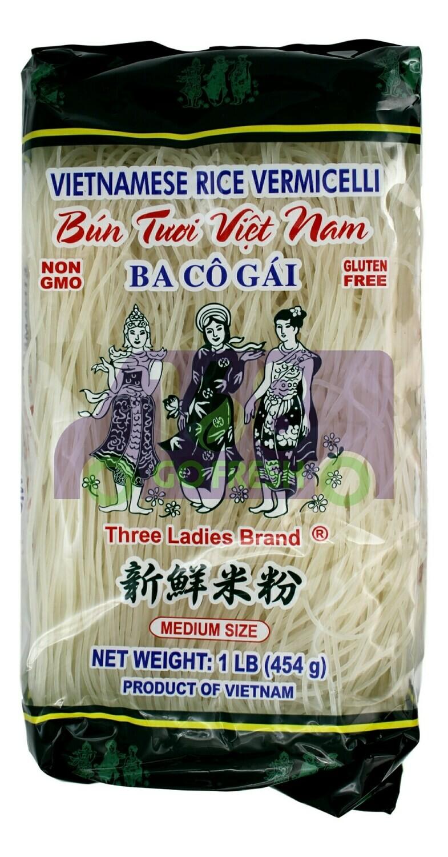 THREE LADIES VIETNAMESE RICE VERMICELLI 三仙女 新鲜米粉(1LB)