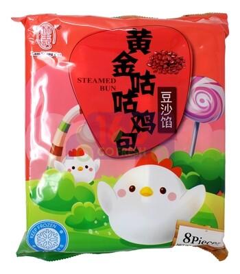 LAMSHENGKEE STEAMED BUN-RED BEAN 林生记 黄金咕咕包 豆沙馅包(10个)