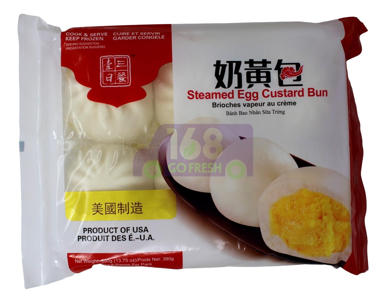 STEAMED EGG CUSTARD BUN 一日三餐 奶黄包(390G)