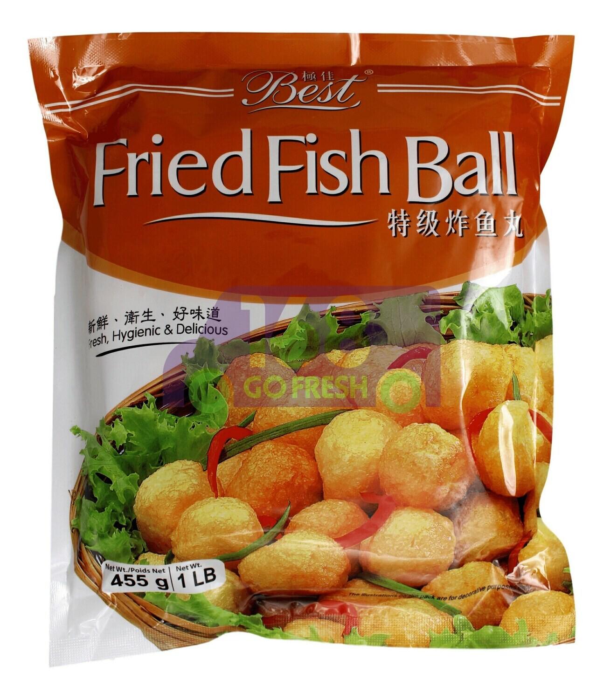 FRIED FISH BALL 极佳 特级炸鱼丸(455G)