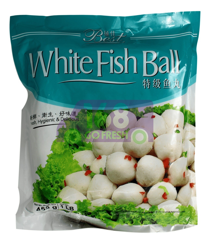 WHITE FISH BALL 极佳 特级鱼丸(455G)