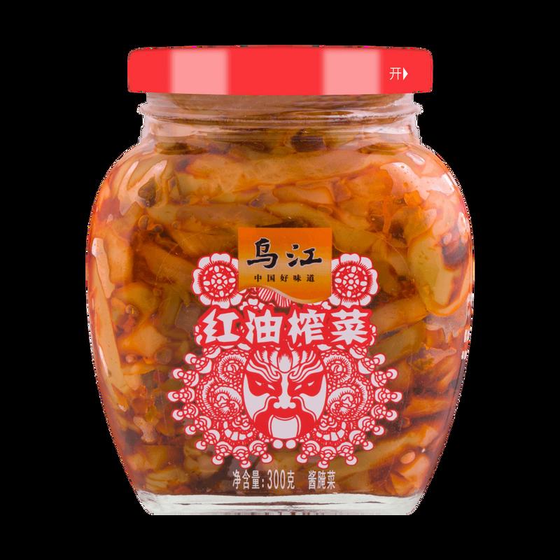 PRESERVED PICKLED VEGETABLE 乌江牌 瓶装红油榨菜(300G)
