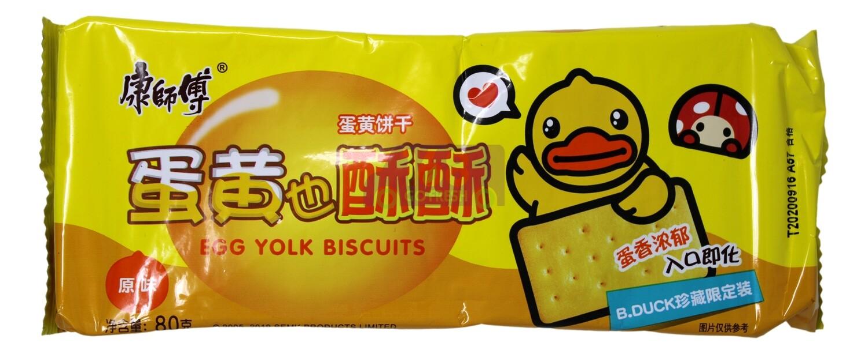 EGG YOLK BISCUITS 康师傅 蛋黄也酥酥 饼干(80G)