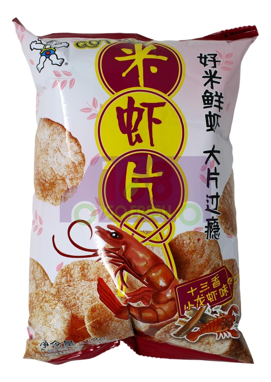 SHRIMP CHIP 旺旺 米虾片 十三香小龙虾味(42G)