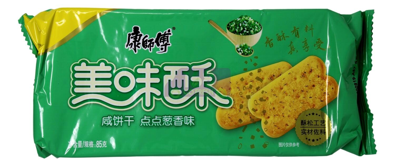GREEN ONION BISCUITS 康师傅 美味酥 咸饼干点点葱香(85G)