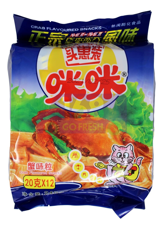 RICE CRACKER WITH CRAB FLAVOR 正宗马拉西亚风味 咪咪蟹味粒(12小包装)