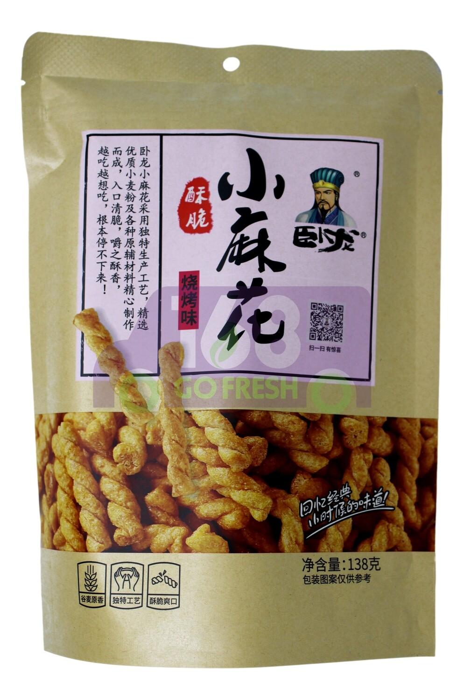 FRIED DOUGH TWIST/BBQ  卧龙小麻花 烧烤/甜辣 138G