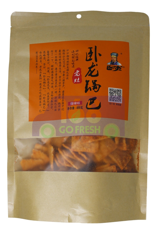 WOOLONG RICE CRUST-SPICY FLV 卧龙锅巴 爆辣味(400G)