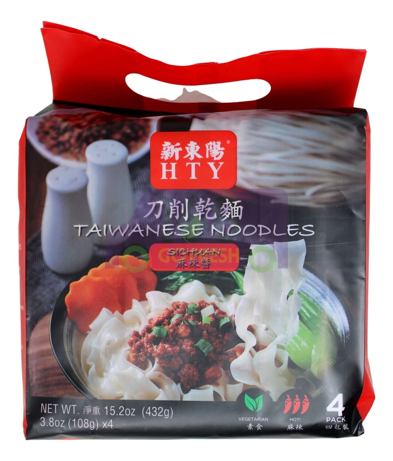 HTW TAIWANESE NOODLES-SPICY 新东阳 刀削干面 麻辣酱(4小包)