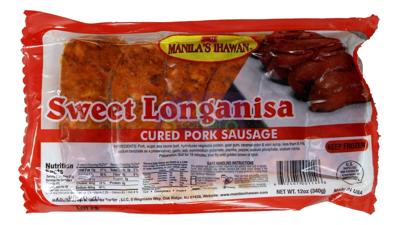 SWEET  PORK SAUSAGE MANILAS猪肉甜肠(16OZ)