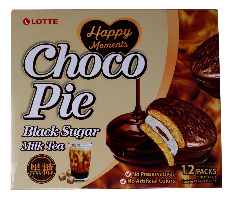 Lotte Choco Pie  乐天 巧克力派 黑糖味(336G)