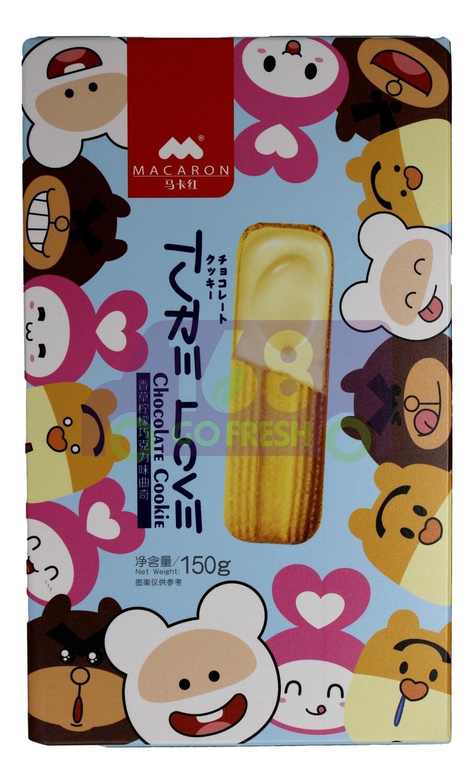 MACARON SANDWICH COOKIE 马卡红 香草柠檬巧克力曲奇(150G)