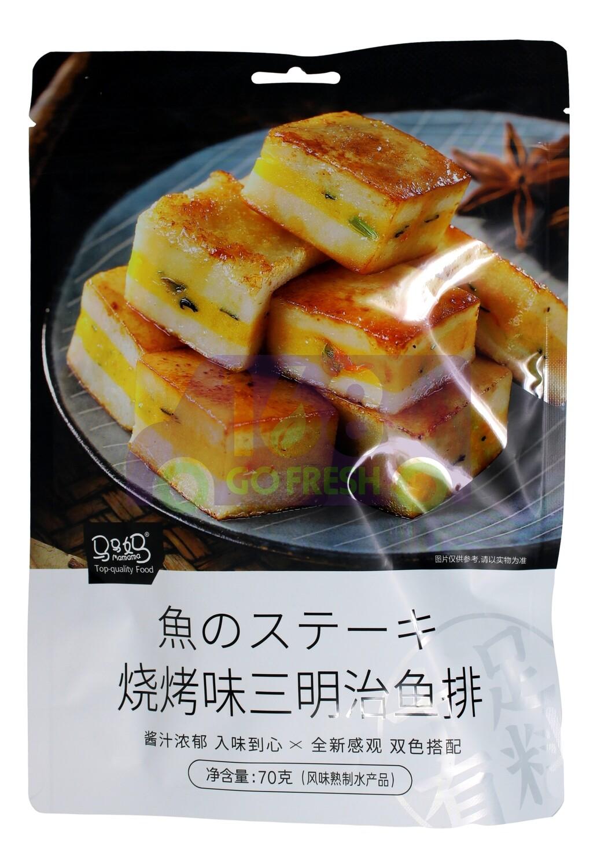 MAMAMA FISH STEAK SANDWICH-BBQ 马马妈 三明治鱼排 烧烤味(70g)