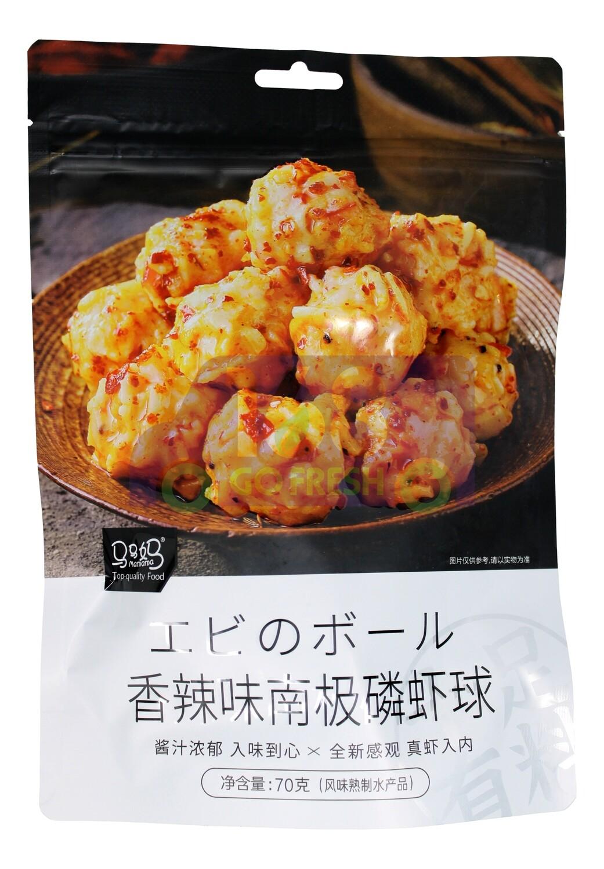 SHRIMP BALL 马马妈 香辣味 南极鳞虾球(70g)