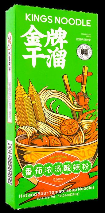 KING NOODLE (CHONGQING STYLE) 金牌 干溜面 番茄浓汤酸辣粉(6.34OZ )